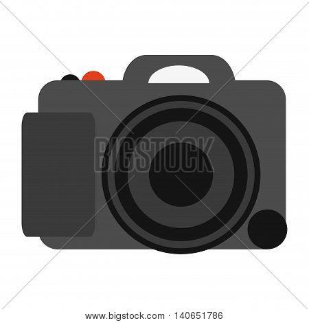 flat design digital photographic camera icon vector illustration