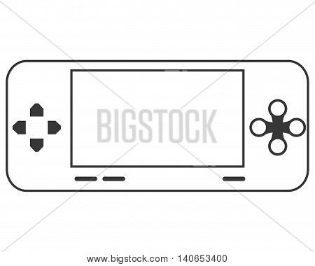 flat design mobile video game console icon vector illustration