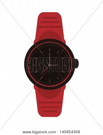 flat design analog watch icon vector illustration