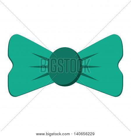 flat design single bowtie icon vector illustration