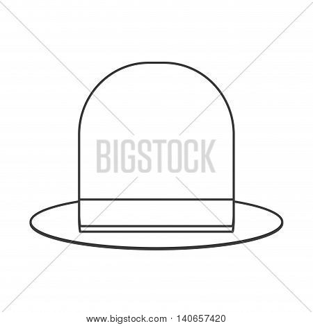 flat design retro hat icon vector illustration
