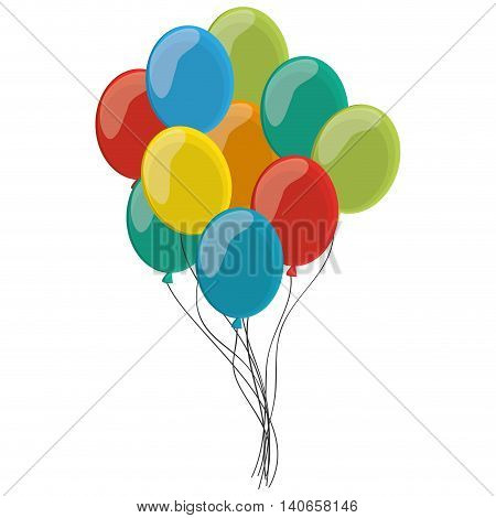 flat design various balloons icon vector illustration