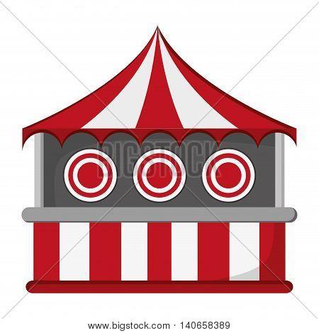 flat design bullseye tent in carnival icon vector illustration