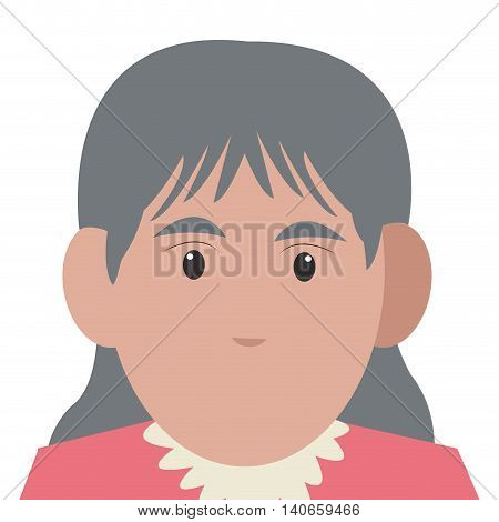 flat design senior woman icon vector illustration