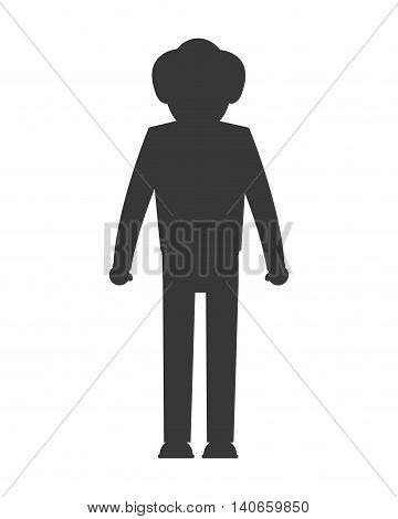 flat design senior man icon vector illustration