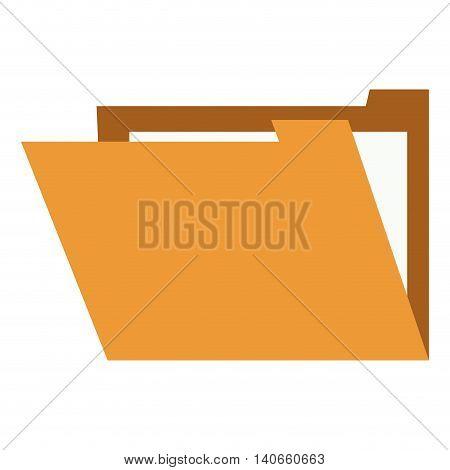 flat design file folder icon vector illustration