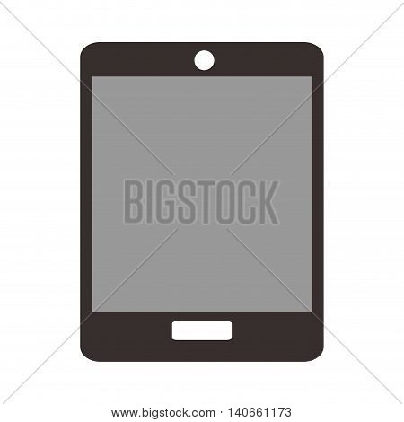 flat design single tablet icon vector illustration