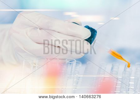 (science) Scientist Is Certain Activities On Experimental Science Like Mixing Chemicals, Microscope,