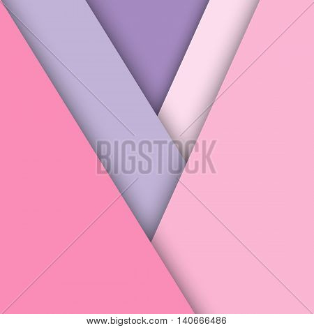 Pink pastel material design with shadow stock vector