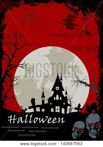halloween with red background for you design