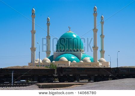 Moschee in Geok Depe. Turkmenistan.