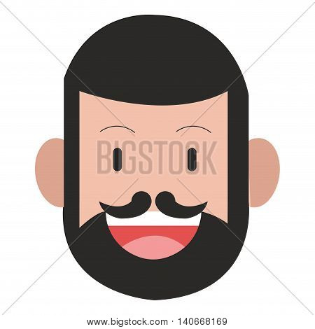 flat design face of man icon vector illustration