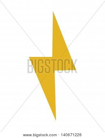flat design lightning ray icon vector illustration