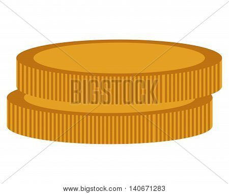 flat design simple coins icon vector illustration