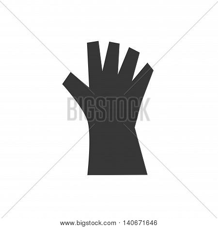 Repair and construction concept represented by glove icon. Isolated and flat illustration