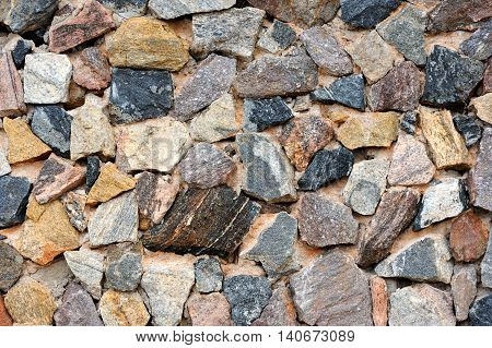 Photo close texture of stone wall for background