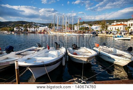 Yachts And Boat In Harbor