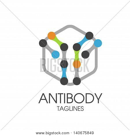 antibody,  immunoglobulin IgG antibody molecule logo vector