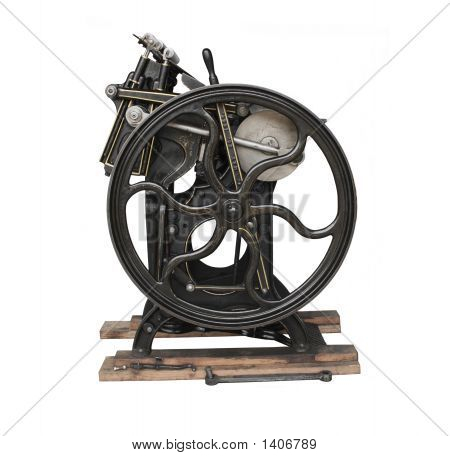 Antique Printing Press With Trim
