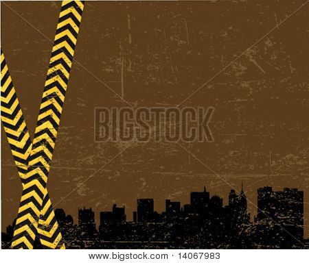 under construction - industrial vector poster