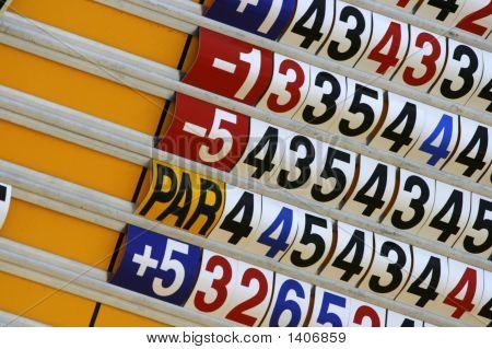 Score Board Of Golf Tournament