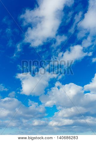 Background of Blue Grand Skyscape Divine Beauty
