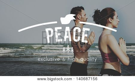 Peace Calm Freedom Quiet Solitude Tranquility Concept poster