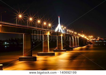 Thailand Laos Friendship Bridge on the River