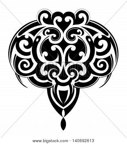 Maori ornamental tattoo shape as Stingray fish