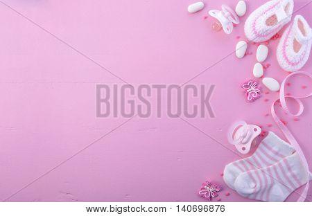 Pink Baby Shower Nursery Background