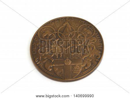 Melbourne 1956 Olympic Games Participation Medal. Kouvola, Finland 21.07.2015.