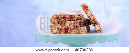 Panforte Cake Slices Social Media Banner