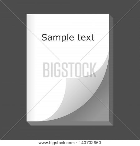 Big sketch pad. 3D effect. Isolated vector illustration.