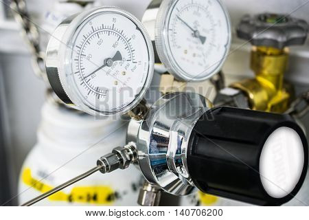 The gauge for measure and gas cylinder