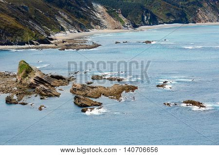 Cape Vidio Coastline (asturian Coast, Spain).