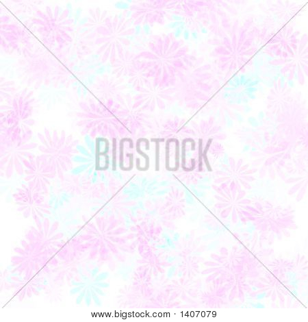 Pink Flowers Gift Wrap