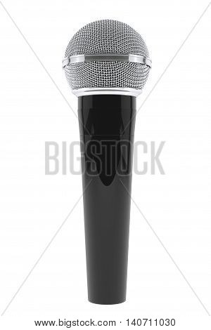 Wireless Microphone on a white background. 3d Rendering
