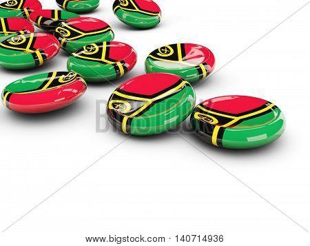 Flag Of Vanuatu, Round Buttons