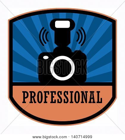 Professional photography label or sign, vector illustration