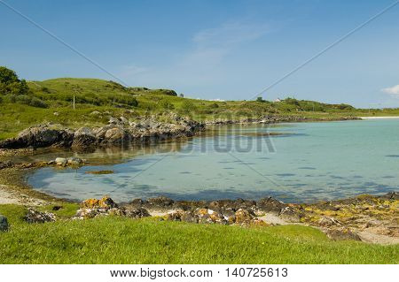 Beach and clear water at Ardfern Argyll Scotland