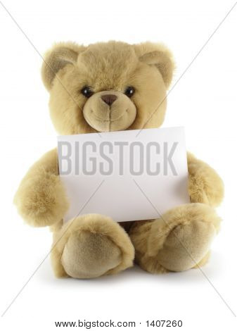 Teddy Bear With Blank Sheet