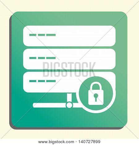 Server Lock Icon In Vector Format. Premium Quality Server Lock Symbol. Web Graphic Server Lock Sign