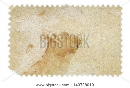 Back of a grungy old postage stamp