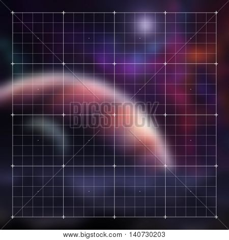 Futuristic HUD video gaming vector interface with grid. Technology hud tech illustration