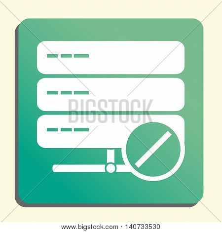 Server Reject Icon In Vector Format. Premium Quality Server Reject Symbol. Web Graphic Server Reject