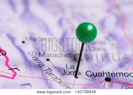 La Junta pinned on a map of Mexico