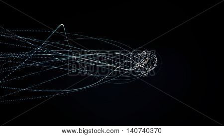 Glowing Waved Lines