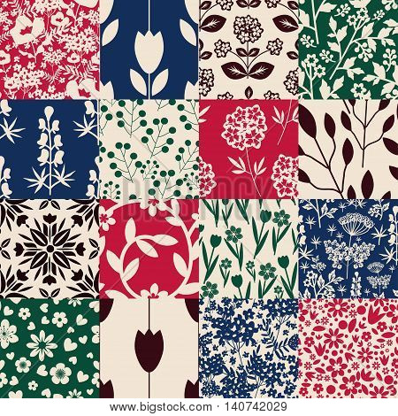 Seamless patterns with decorative ornament various colors