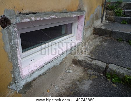 Smal New Window In An Old House