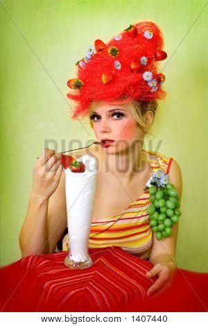 Glamour Strawberry Girl